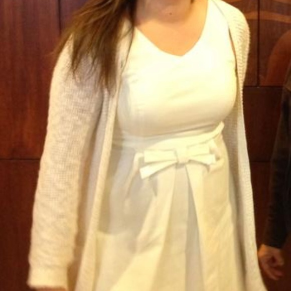Lulu's Dresses & Skirts - Simple White Dress with Bow